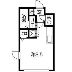 1R Mansion in Kiyota 4-jo - Sapporo-shi Kiyota-ku Floorplan