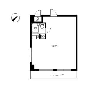 1R Mansion in Hinodecho - Yokohama-shi Naka-ku Floorplan