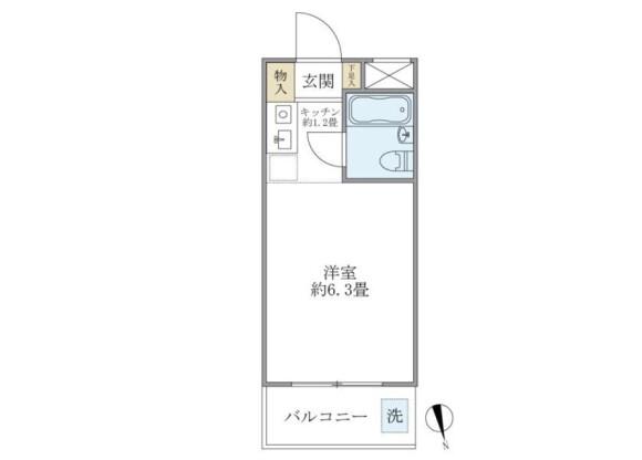 在新宿區內租賃1K 公寓大廈 的房產 房間格局