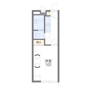 1K Mansion in Kishimachi - Kawagoe-shi Floorplan