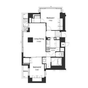 2LDK Mansion in Minamiazabu - Minato-ku Floorplan
