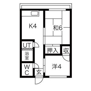 2K Mansion in Sunjiyata - Osaka-shi Higashisumiyoshi-ku Floorplan