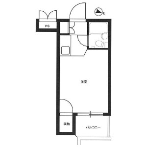 1R Mansion in Gohongi - Meguro-ku Floorplan