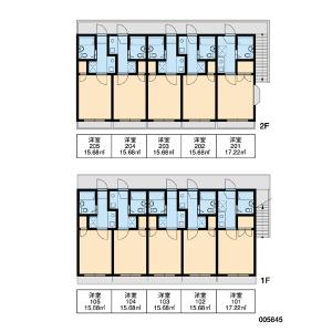 港区白金-1K公寓大厦 楼层布局