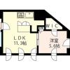 1LDK Apartment to Rent in Shinjuku-ku Floorplan