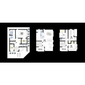 豊中市岡町南-3SLDK{building type} 房間格局
