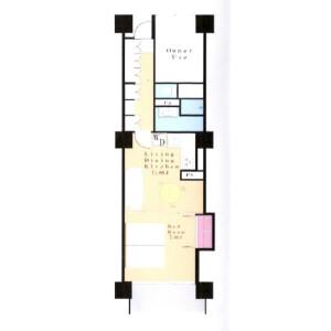 1DK Apartment in Meguro - Meguro-ku Floorplan