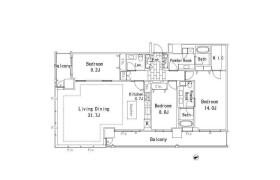 港區芝浦(2〜4丁目)-3LDK公寓