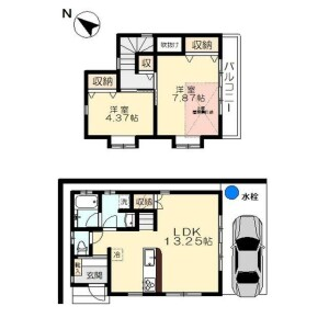 2LDK {building type} in Kugahara - Ota-ku Floorplan