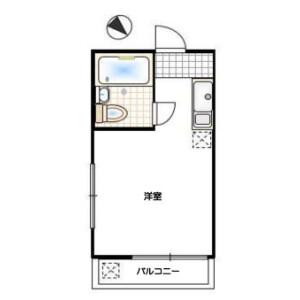 目黒区柿の木坂-1R公寓大厦 楼层布局