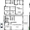 3LDK House to Rent in Ota-ku Floorplan