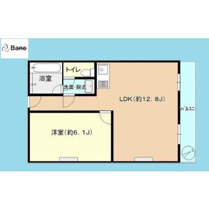 1LDK {building type} in Rinkaicho - Edogawa-ku Floorplan