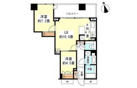 2LDK Apartment in Kinkocho - Yokohama-shi Kanagawa-ku