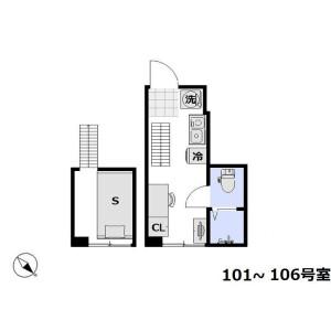 1R Apartment in Yokoami - Sumida-ku Floorplan