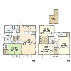 埼玉市中央區円阿弥-4LDK獨棟住宅 房間格局