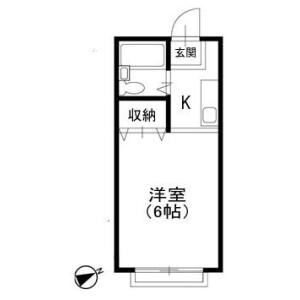 1R Apartment in Shinoharacho - Yokohama-shi Kohoku-ku Floorplan