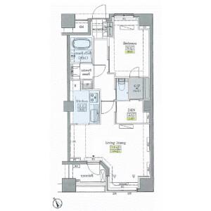 丰岛区上池袋-1SLDK公寓大厦 楼层布局