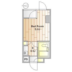 1K Apartment in Yutenji - Meguro-ku Floorplan