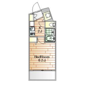 品川區旗の台-1K公寓大廈 房間格局