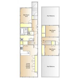 3LDK House in Kamimeguro - Meguro-ku Floorplan