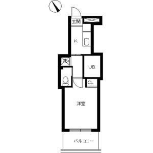 1K Mansion in Saga - Koto-ku Floorplan