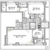 在港区内租赁2LDK 公寓 的 楼层布局