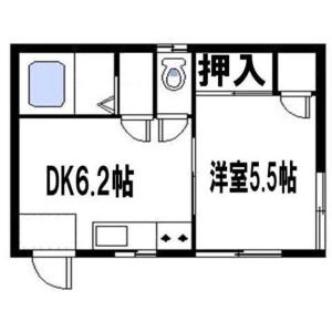 葛饰区高砂-1DK公寓大厦 楼层布局