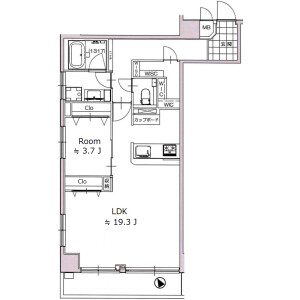 2LDK {building type} in Osaki - Shinagawa-ku Floorplan