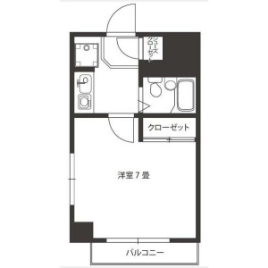 1K Mansion in Ikejiri - Setagaya-ku Floorplan
