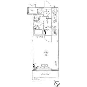 1K Mansion in Mita - Meguro-ku Floorplan