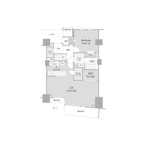 1SLDK {building type} in Nishiazabu - Minato-ku Floorplan