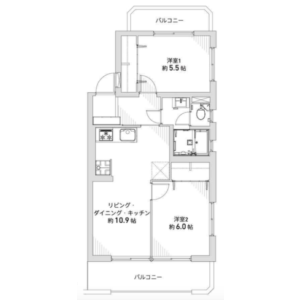 2LDK {building type} in Minamitanaka - Nerima-ku Floorplan