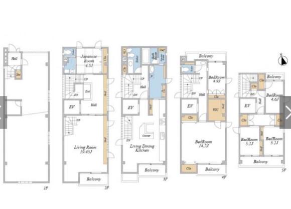 6LDK House to Buy in Bunkyo-ku Floorplan