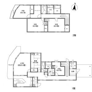 5LDK {building type} in Nagakura - Kitasaku-gun Karuizawa-machi Floorplan