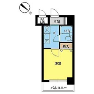 1K Apartment in Tamagawadai - Setagaya-ku Floorplan