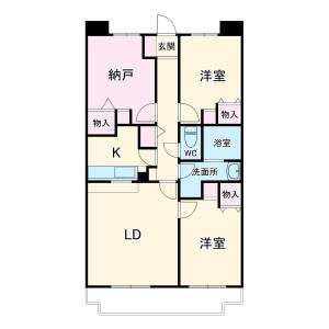 3LDK Mansion in Inukura - Kawasaki-shi Miyamae-ku Floorplan