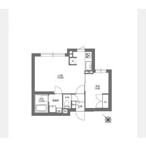 1LDK Mansion in Nishigotanda - Shinagawa-ku Floorplan