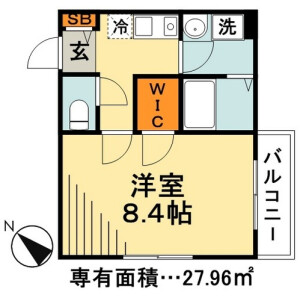 1K Apartment in Imagawa - Urayasu-shi Floorplan