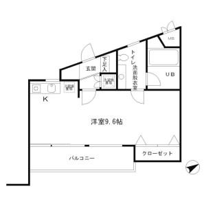 1R Mansion in Honan - Suginami-ku Floorplan