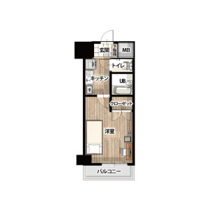 1K Apartment in Omorikita - Ota-ku Floorplan