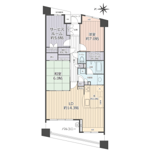 3LDK {building type} in Shinanocho - Yokohama-shi Totsuka-ku Floorplan