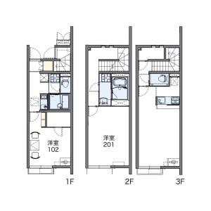 1K Apartment in Ayase - Adachi-ku Floorplan