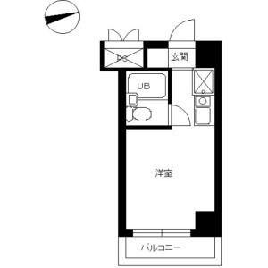 日野市旭が丘-1R公寓大廈 房間格局