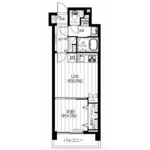 1LDK {building type} in Shoan - Suginami-ku Floorplan