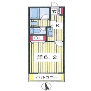 1K Apartment in Abiko - Abiko-shi Floorplan