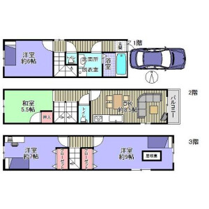 4DK {building type} in Nagaranaka - Osaka-shi Kita-ku Floorplan