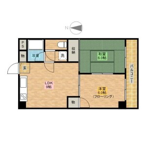 2LDK Apartment in Takanodai - Nerima-ku Floorplan