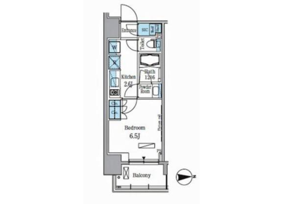 1K Apartment to Rent in Koto-ku Floorplan