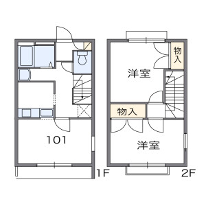 2DK Apartment in Yoda - Fujisawa-shi Floorplan