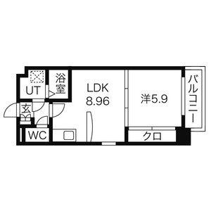 名古屋市中区 葵 1LDK マンション 間取り